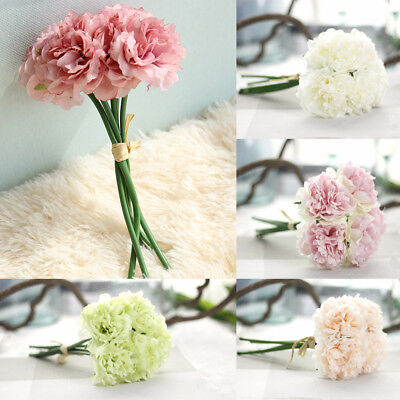 Artificial Flowers Fake Peony Bouquet Silk Hydrangea for Wedding Party Decor