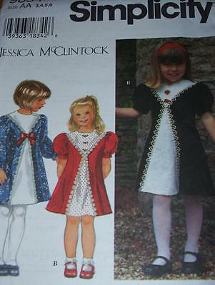 UNCIRCULATED SIMPLICITY #9834-GIRLS DAY-EVENING DRESS w/LACE TRIM PATTERN 3-8 FF
