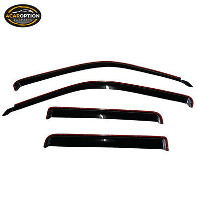 For 91-01 Ford Explorer Sedan Acrylic Window Visors 4Pc Set