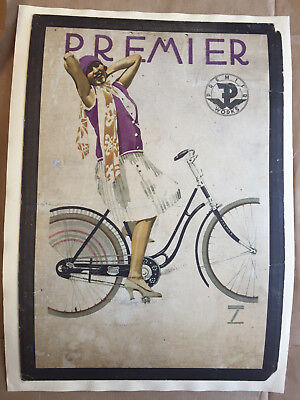 1920s Original Ludwig Hohlwein Lithography Poster Premier Works Bicycles