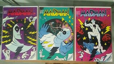 MICHAEL ALLRED MADMAN #1-3 TUNDRA ALL 1st PRINT COMPLETE SET VF/NM