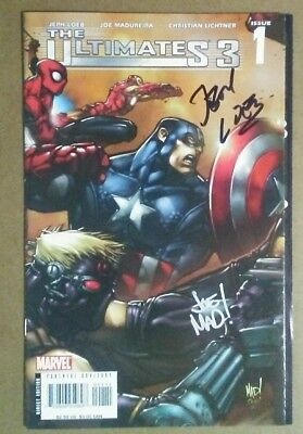 ULTIMATES 3 #1 NM SIGNED BY JOE MADUREIRA and JEPH LOEB HEROES COVER SALE!!!!**
