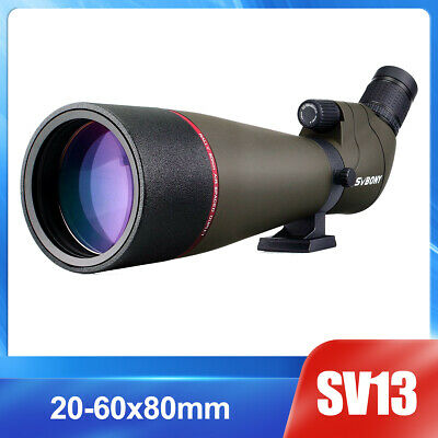 SVBONY Angled Zoom 20-60x80mm Fully Multi-Coated Refractor Spotting Scope