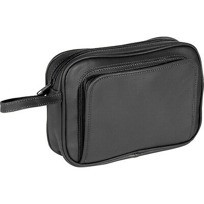 Royce Leather Toiletry Combo Grooming Set - Black Toiletry Kit NEW