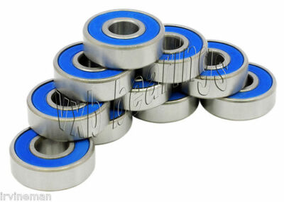 """Lot of 10 R168-2RS 1/4""""x 3/8""""x 1/8"""" R168RS inch Miniature Ball Bearings 0.250""""ID"""