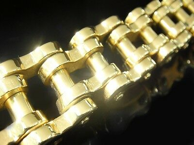 "9"" 200 g Gold HEAVY Classic Bike Chain Bracelet for Harley Davidson 1% Biker 144"