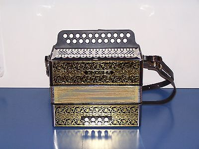 Accordion diatonic Hohner 2915 Luxe Vienna + straps and cover. New