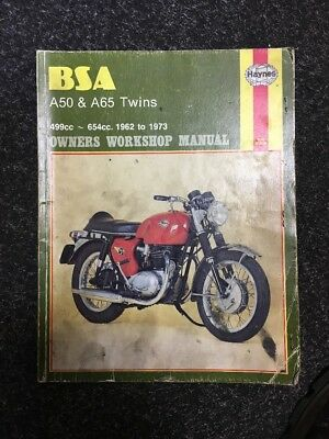 Bsa A50 A65 Twins Haynes Workshop Manual