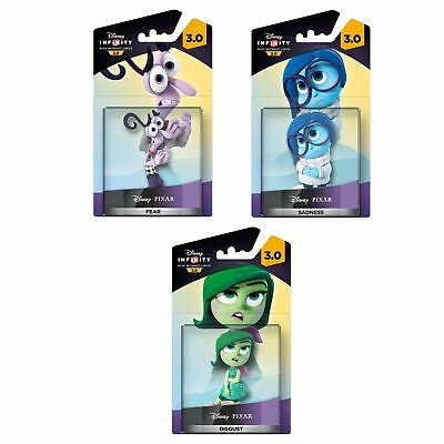 Disney Infinity 3.0 Inside Out Figures PS4 PS3 XBOX Wii U Fear Sadness Disgust