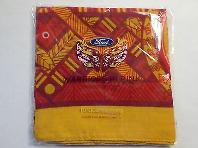 "Ford Motor Company 2005 Warriors In Pink Scarf Bandana New In Package 21"" X 21"""