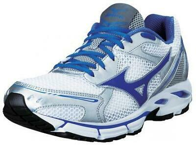 Mizuno Wave Resolute Womens White/AmparoBlue/Silver Running Trainer