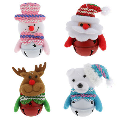 Merry Christmas Hanging Santa Claus Snowman Bells Ornaments Xmas Tree Home Decor