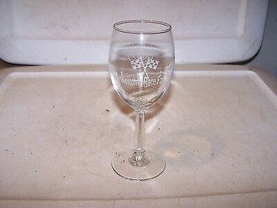 SUTTER HOME WINERY Since 1890 Goblet Wine Glass WELCOME RACE FANS