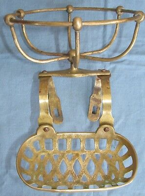 Authentic VICTORIAN Claw Foot Tub Bath Antique BRASS SOAP TOWEL SPONGE DISH TRAY