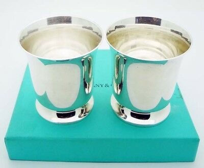 ESTATE!!! Tiffany & Co. Pair of Cordial Shot Cups in Sterling Silver # 23261