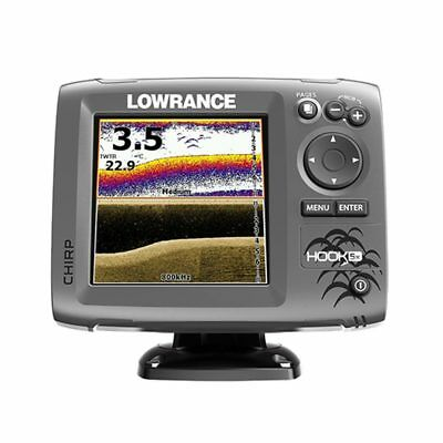 Lowrance Hook 5x Echolot mit Heckgeber mid/high/downscan