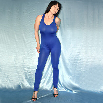 BODY in blau weicher GANZANZUG* L 44 * Catsuit* Overall stretchig Gymnastikanzug