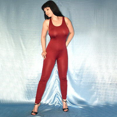 BODY in rot weicher GANZANZUG* L 44 * Catsuit* Overall stretchig Gymnastikanzug