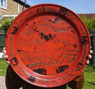 HUGE 45cm Antique Chinese Cinnabar Lacquer Plate Charger 19th Century QING