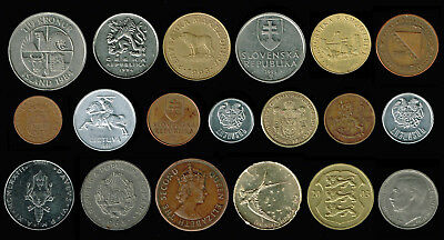 EUROPE:- Selection of 19 different coins from several smaller countries. AP6174