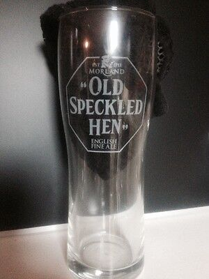 Old Speckled Hen Pint Glass Strong Pale Ale Logo Morland Brewery RARE Barware