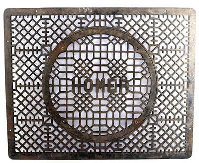 """Large Antique Homer Foundry & Furnace Co. Cast Iron Floor Grate 30.5"""" x 24.625"""""""