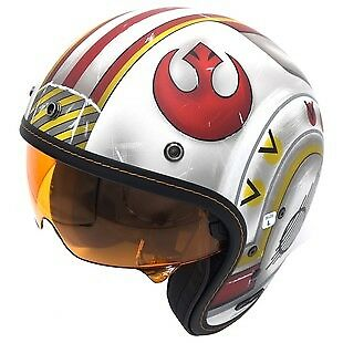 HJC IS-5 X-Wing Fighter Pilot Open Face Helmet White