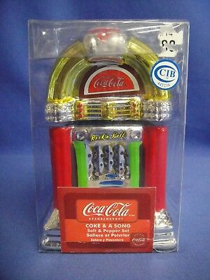 Coca-Cola Coke & a Song Salt and Pepper Jukebox Set in Package