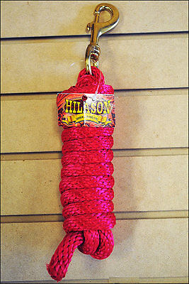 Red Hilason Braided Polypropylene Western Horse Show Tack Lead Rope Bolt Snap