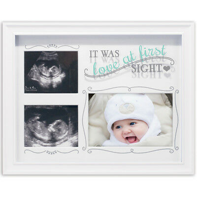 NEW Malden Love At First Sight Decorative Baby Sonogram & Newborn Picture Frame