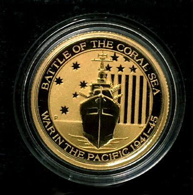 2014 Australia Gold Battle of the Coral Sea - War In The Pacific -  1/10 oz