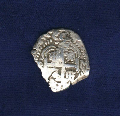 Bolivia Spanish Colonial Philip V (1)731  2 Reales Silver Cob Coin, F/vf