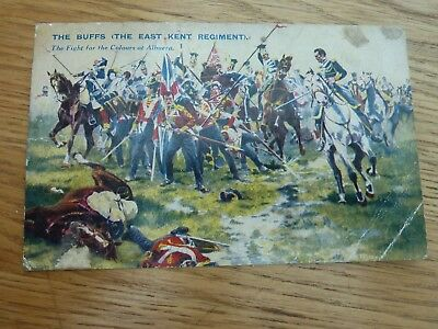 The Buffs At Albuera Battles For The Flag Colour Card