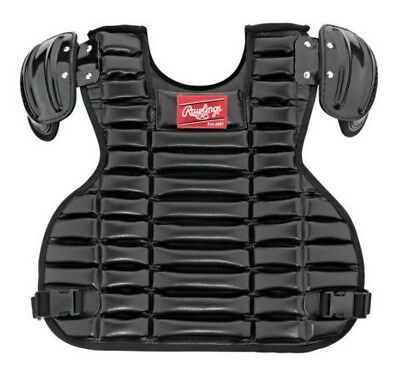 Rawlings Adult Umpire Chest Protector Pad Vest Style 15.5 Black UCPPRO-B