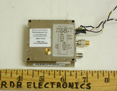 CTI Kratos PDRO-73116 7.092GHz Phase Locked Dielectric Resonant Oscillator 15VDC