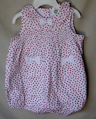LITTLE ME 100% Cotton STRAWBERRY Print  Sunsuit GIRL SIZE 12 MONTHS  NWT