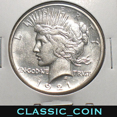 1921 Silver Peace Dollar $1 Uncirculated Details First Year Key Date Free S/h