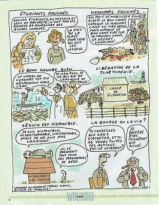 Popular Brand Publicité Advertising 2002 Dessin Signé Wolinski Other Breweriana Collectibles