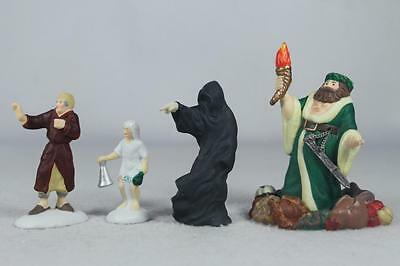 Dept 56 Dickens'  'A Christmas Carol Visit' Set of 4 #56.58542 New In Box