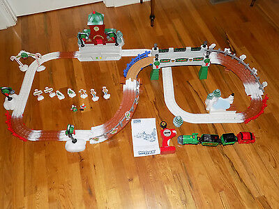 Fisher Price Geo Trax Christmas in Toy Town RC Remote Control Train Lights Sound