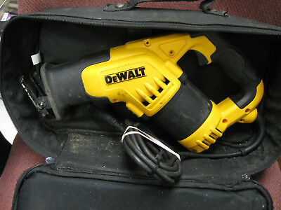 DEWALT DWE357 CORDED VS COMPACT RECIPROCATING SAW wSOFT CASE QUICK BLADE RELEASE