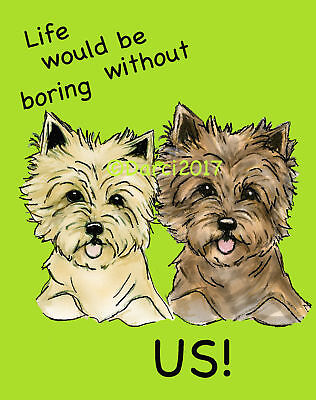 Cairn Terrier Life  note cards add a short message inside Free