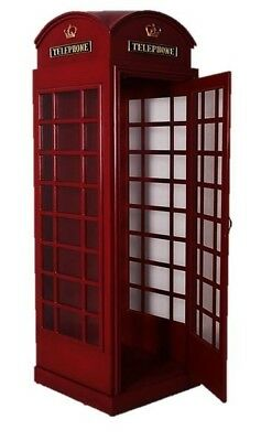 England Phone booth Telephone Booth Red Wood Old Replica London British
