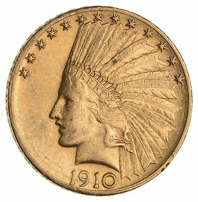 1910-D $10.00 Indian Head Gold Eagle - AU *1929
