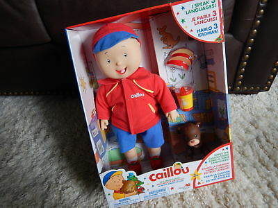 "Caillou 16"" Best Friends Electronic Doll & Teddy: Speaks English-French-Spanish"