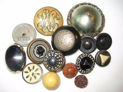 """Antique & Vintage Buttons-Profile-Small Fancy-Large Domed Metal-3/8"""" To 1 1/2"""""""