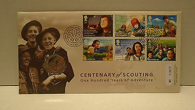 100 Years of Scouting Great Britain 2007 Fifty Pence coin and stamp cover