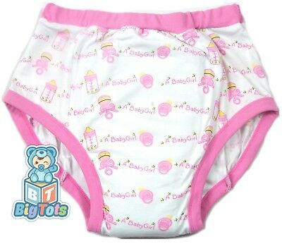BIG TOTS Its a Baby Girl adult  training pants baby style*
