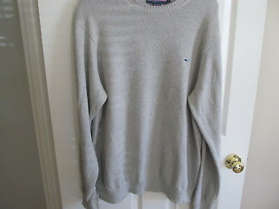 Vineyard Vines Men's Gray Pull Over Gray Cotton Sweater Size Xxl