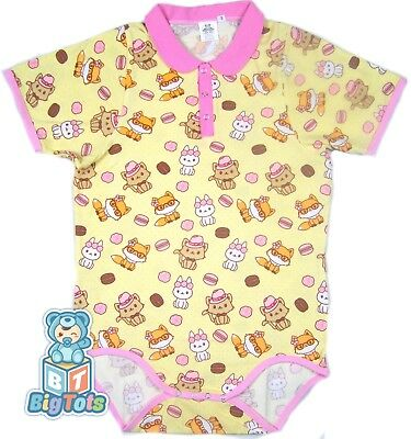 BIG TOTS  COLLAR Cats,Bunny's & Foxs adult size bodysuit baby fabric